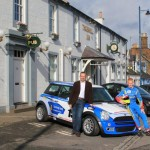 Ross Wylie with Mini at Thornhill Inn Dumfriesshire